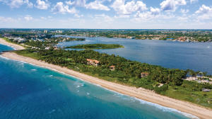 This 15-acre ocean-to-lake estate stands alone in all of the Palm Beaches for its beauty, privacy, amenities and sheer scale. Offering a remarkable combination of 1,200+/- feet of dune-lined beach on the Atlantic with 1,300+/- feet of frontage on Lake Worth, 2000 South Ocean Boulevard is unrivaled among South Floridas most significant waterfront properties. Perched atop a dune, with 360-degree views, it is the only direct oceanfront home for almost a mile, yet just minutes from Worth Avenue. Like many estates in the area, the property is divided by South Ocean Boulevard, yet the road is essentially imperceptible thanks to a series of tunnels including one that is a furnished 15-foot-wide gallery. See supplemental text...