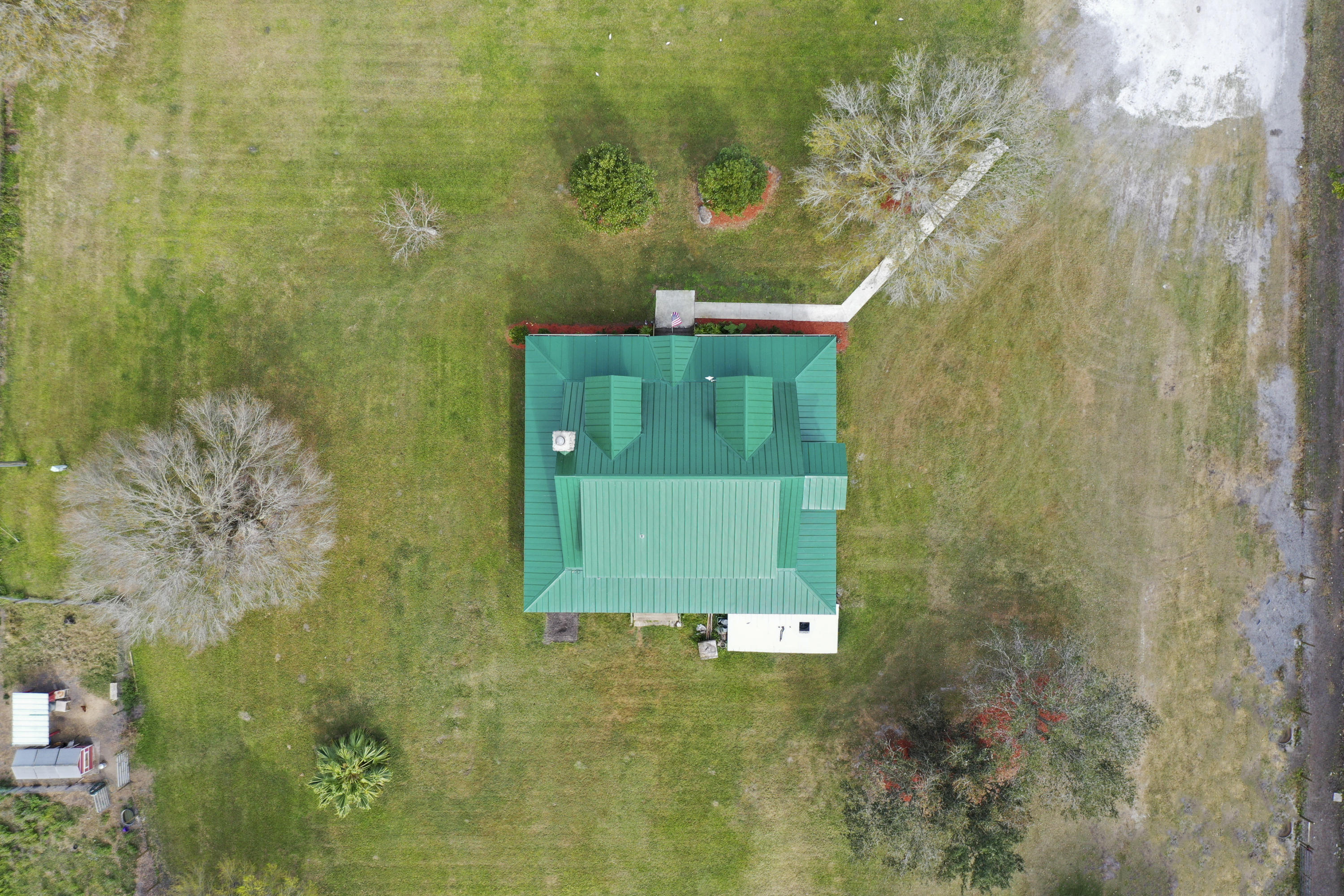 aerial of cabin