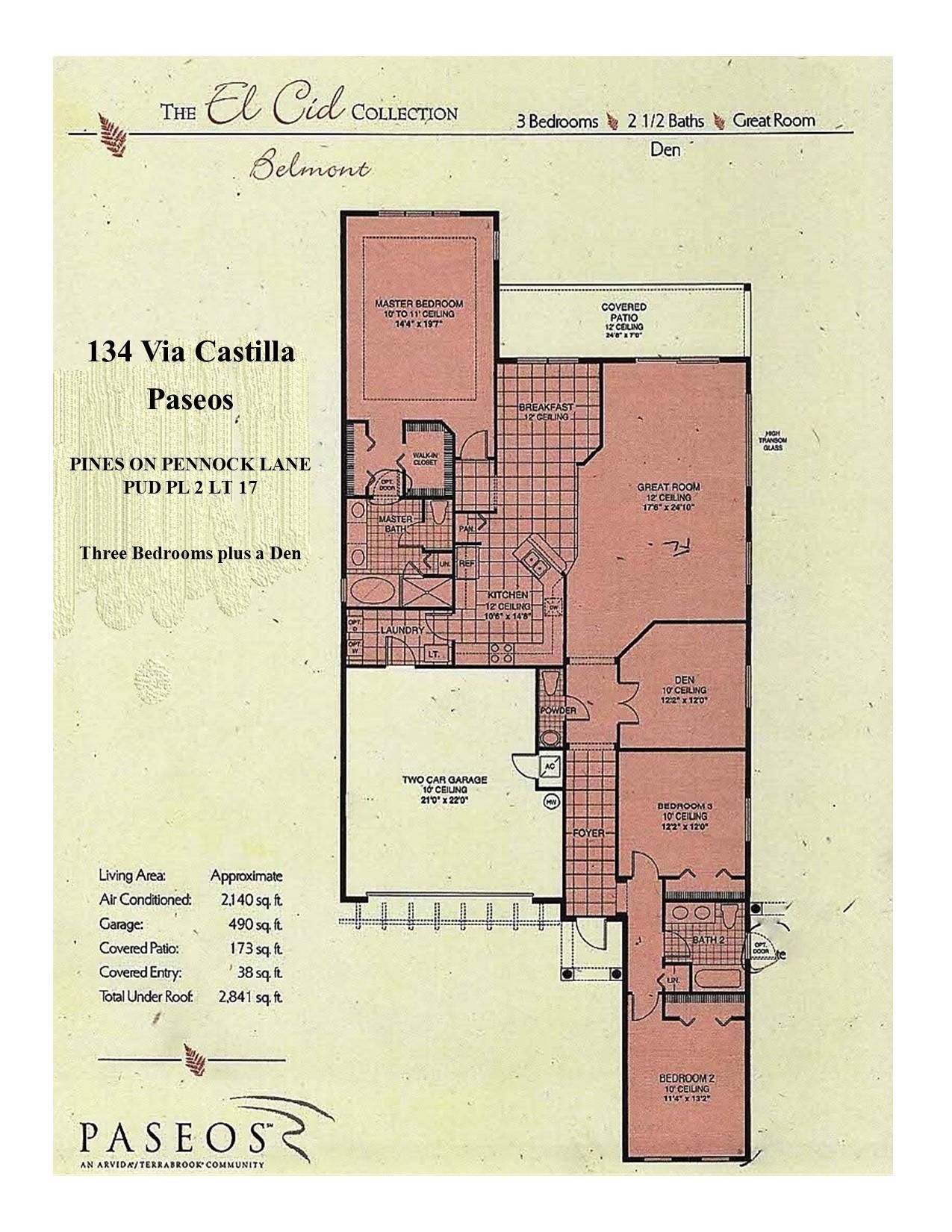 134 Via Castilla Floor Plan