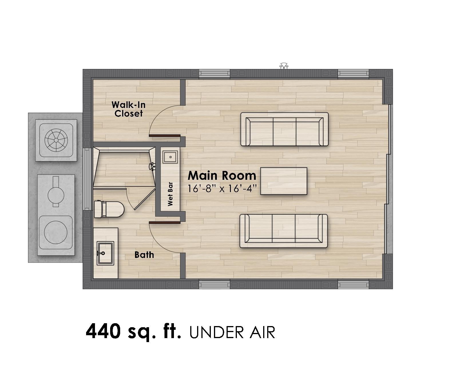 Guest/Pool House Floor Plan