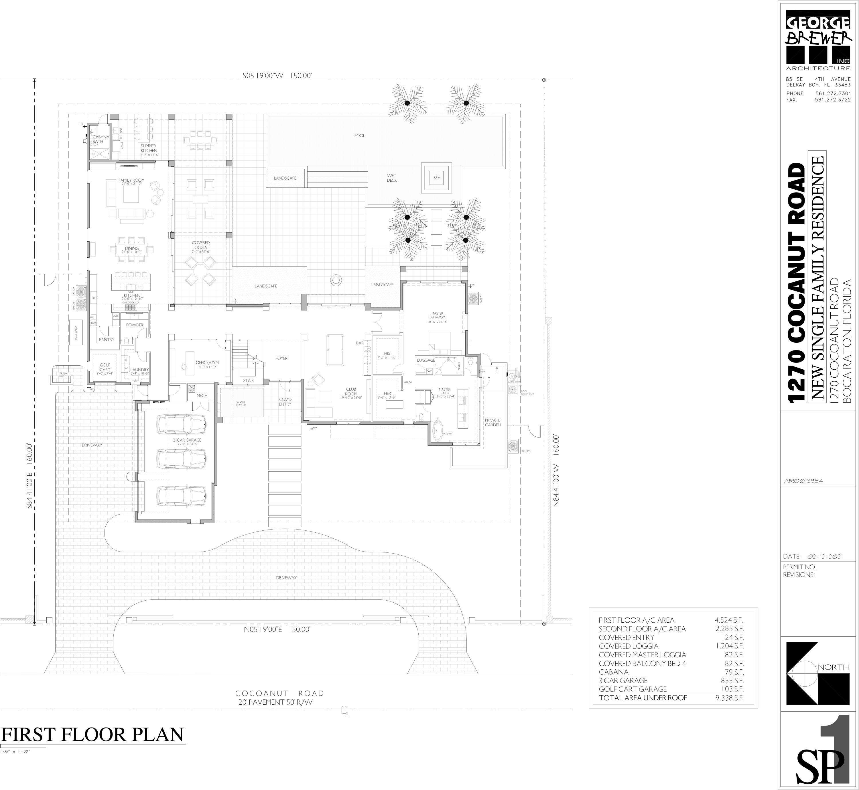 1270 Cocoanut - 1st Floor Plan