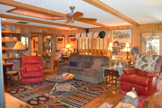 Wooden Beams in Living Room