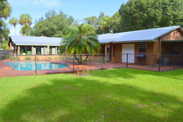 Backyard with Pool & Gate