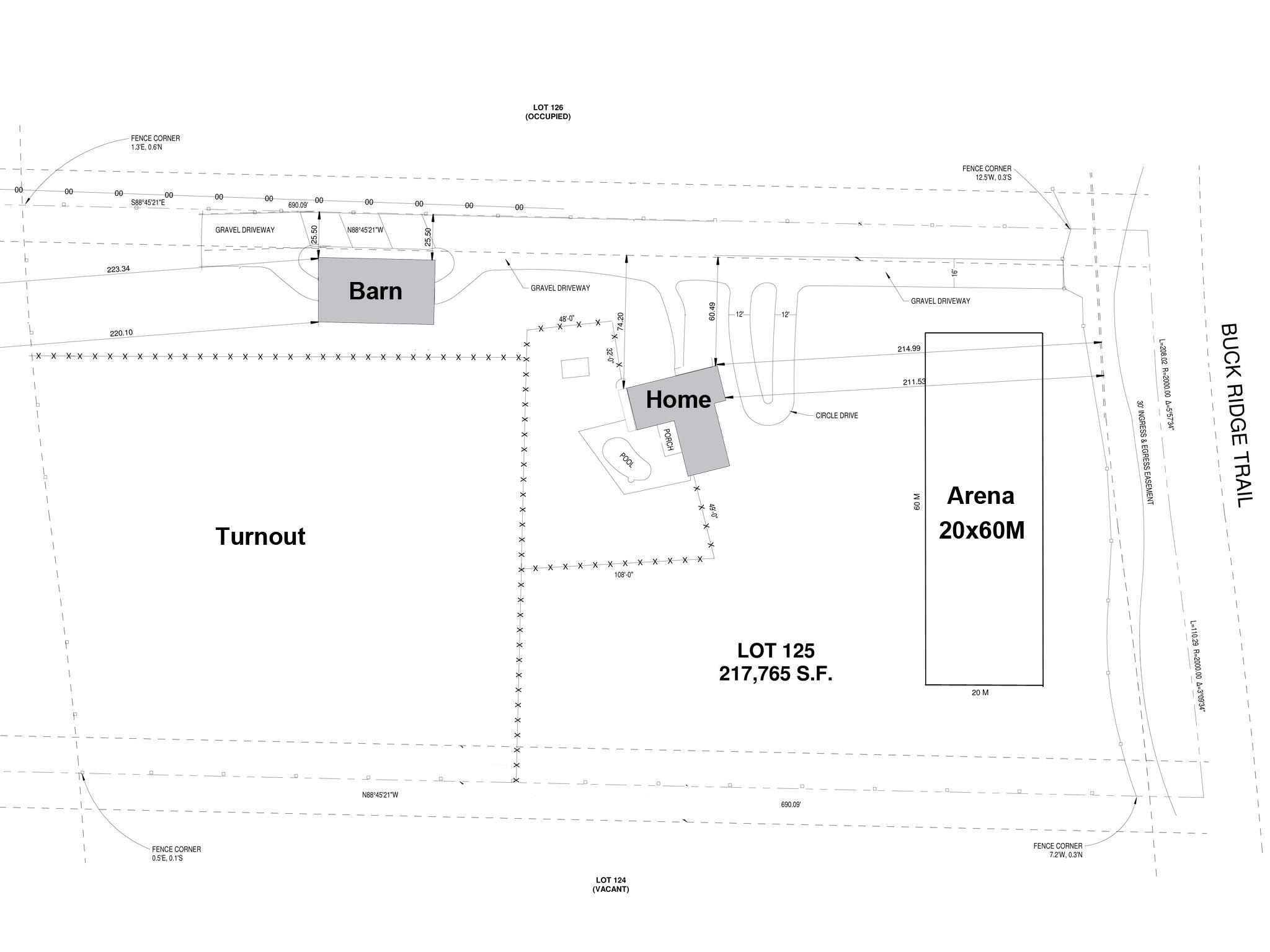 Site plan with arena for listing