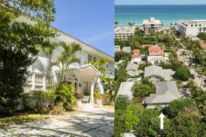 Palm Beach Estate, ideally located in the center of town on the first block from the beach, only six properties west of the Atlantic Ocean! Beautifully situated in the heart of exclusive Palm Beach, steps to the beach, Worth Avenue, world-renowned art galleries, shops, restaurants, hotels, post office and Town Hall.  Own this magnificent property and be a part of Palm Beachs adored culture, lifestyle, and society.  This vast, quarter-acre lot of 11,247 sqft includes a private, lovely, landscaped garden with mature mango trees and a huge parking area and a wide circular driveway.The main house remains mostly in its original state, preserving her 1920s charm. The property may be restored to her original glory or build your new dream mansion tailored to your specifications.