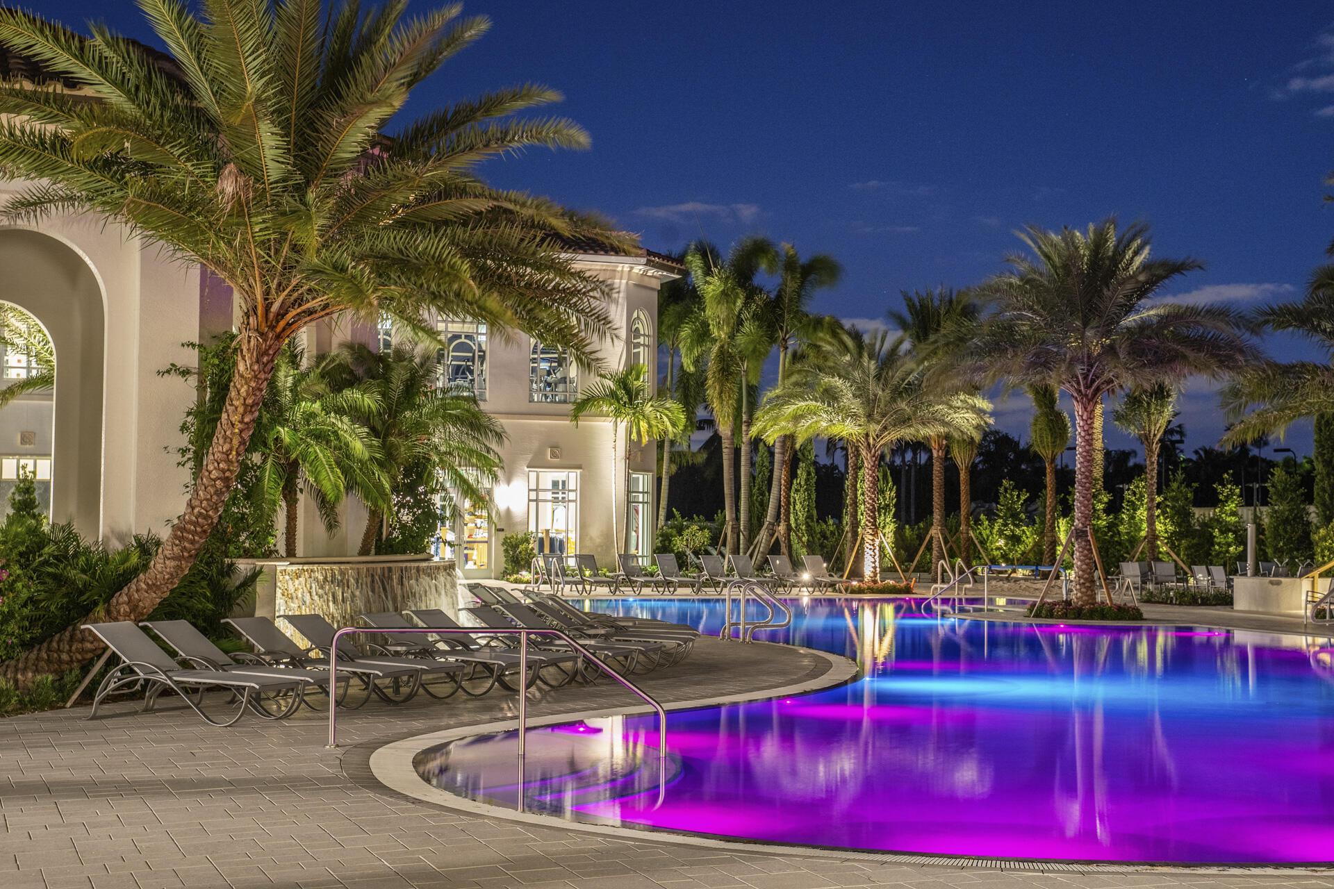 Pool glow night