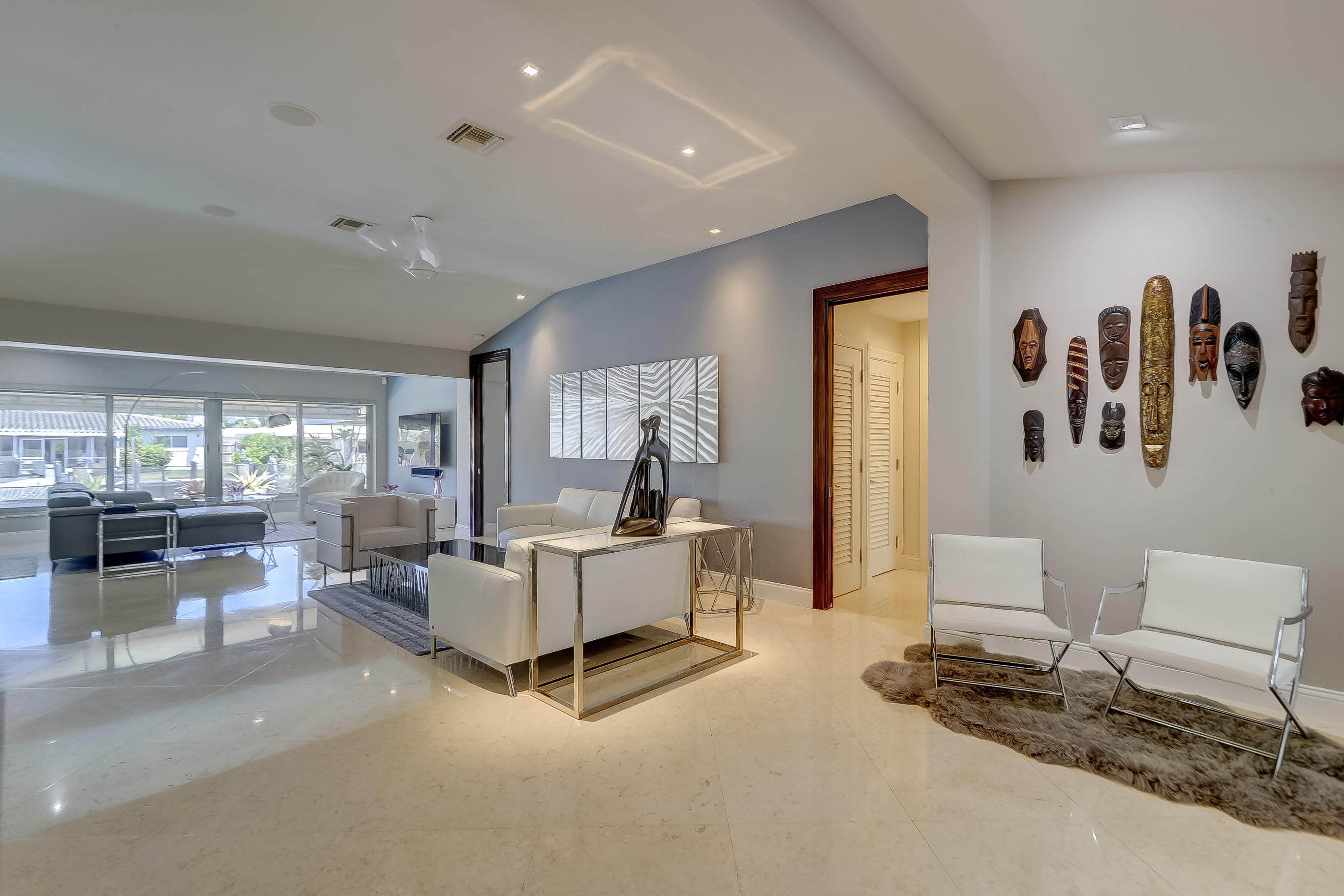 Open Concept  with views of water