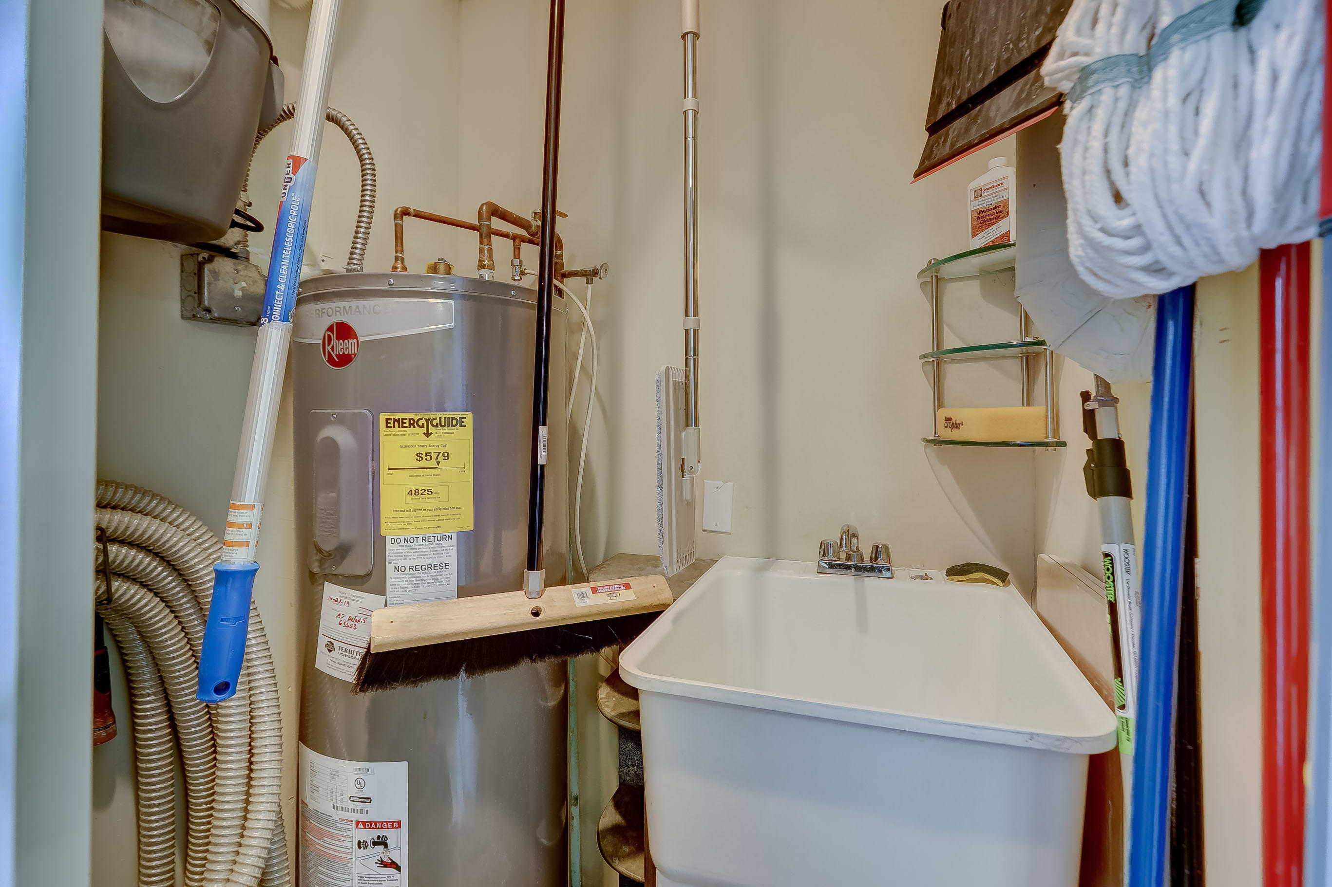 With Utility Sink and Water Heater