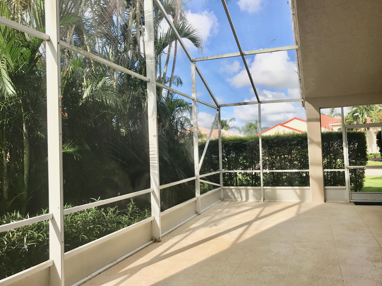 large screened patio