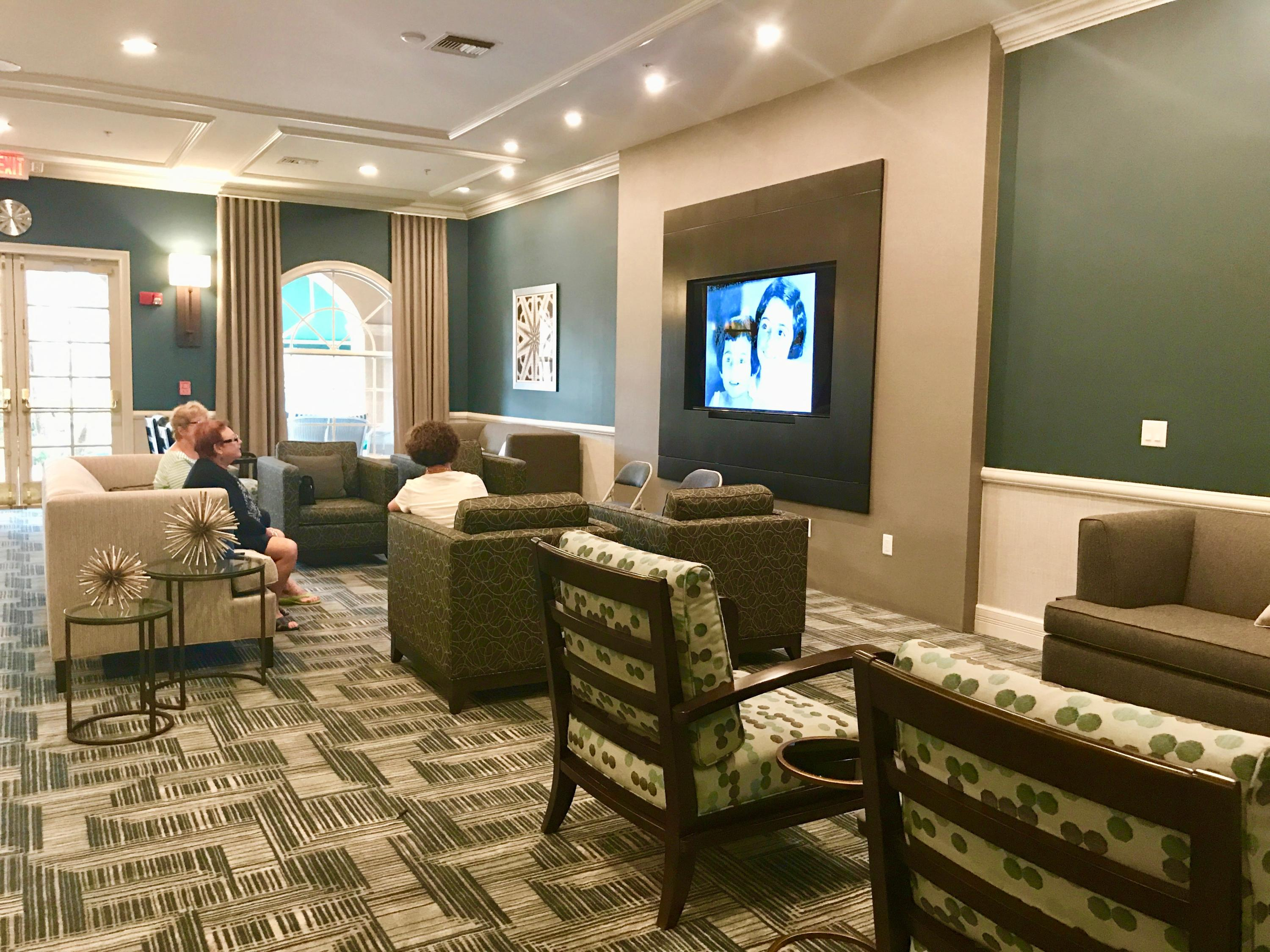 clubhouse lobby relaxation area