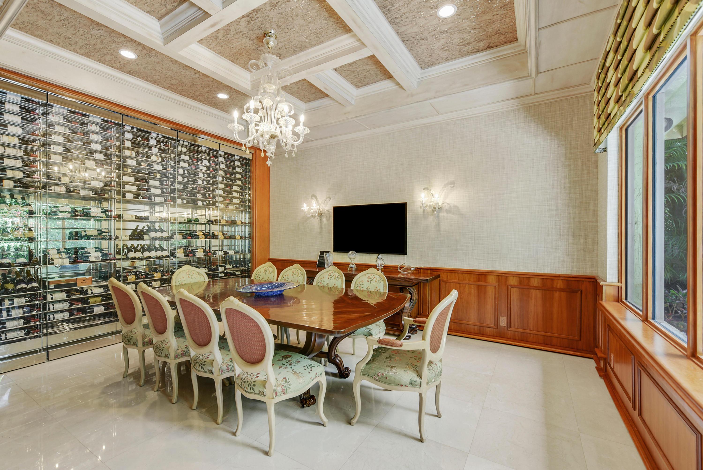 breakfast area with wine room
