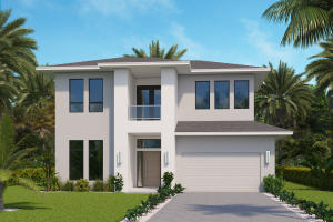 This magnificent new construction estate is located in the highly desirable Blue Cypress neighborhood within Palm Beach Polo & Country Club. Offering a stylish, modern twist on a classic contemporary design, this home features 3 bedrooms, 4 full and one half bathrooms, study, private pool, and a 2-car garage. Professionally designed by renowned Soco Interiors, the bright, serene interior boasts cathedral ceilings, beautiful Oak wood floors throughout, a great room with an eccentric linear gas fireplace, and luxurious Marble mosaic-tiled baths.