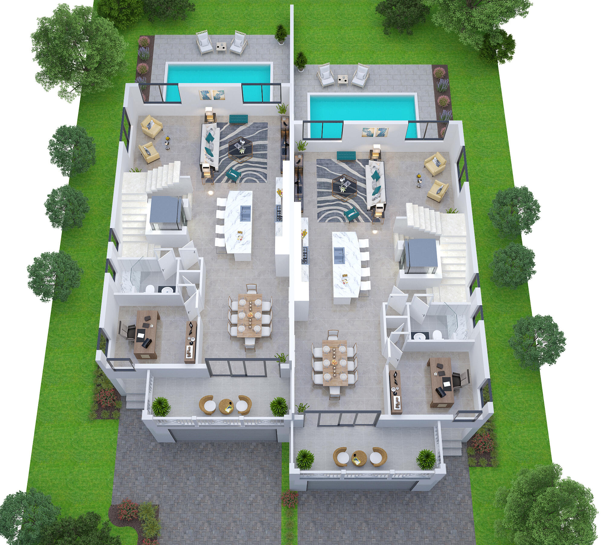 Lot 4 5 -Second floor plan