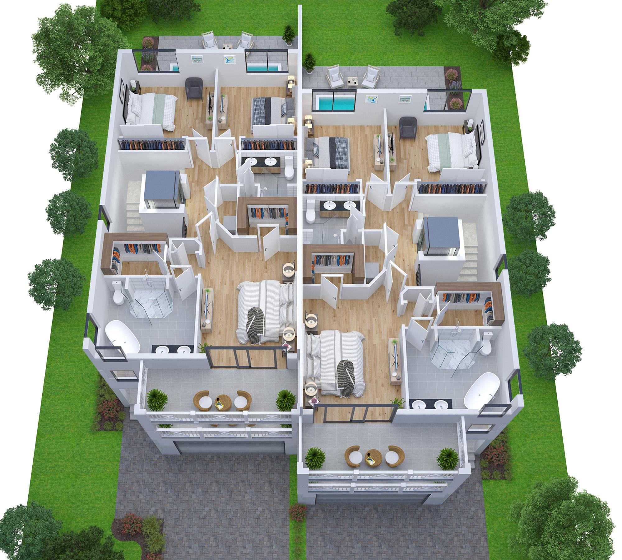 Lot 4 5 -Third floor plan