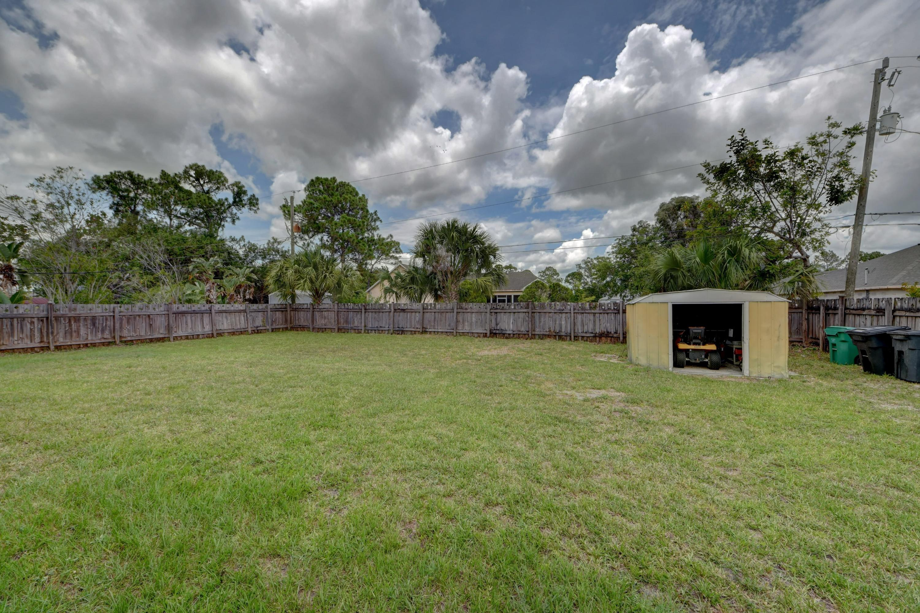 :arge Backyard with Shed