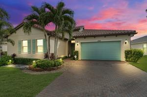 Come live the true Florida lifestyle in this one of a kind Portosol Tropez home! Luxury abounds in this spacious 3 bedroom 4 full bath residence, perfectly situated with a panoramic water view in back and common area across the street. Custom Linda Ashley designed interior; kitchen includes upgraded cabinetry and appliances, granite countertops; full dining room and pantry; master carpenter coffered ceiling in family room and kitchen. Stunning custom tin ceiling in the living room. In-law suite with sitting/office/fitness room; full bath with easy access shower. Sanctuary main bedroom with built in cabinetry and custom teak wall and lighting. Step into your main bath retreat with a beautiful walk in shower and jet tub. Open your private door to relax in the heated salt water pool or spa.