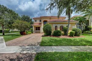 Charming 2-story home on a CORNER LOT. One BEDROOM & Full Bath DOWNSTAIRS in addition to a FLEX-ROOM off the kitchen that would make a great HOME-OFFICE/nursery/breakfast nook, hobby space etc.  We have tile floors downstairs & carpet upstairs. Terracina is a mature, tree lined, man-gated community. HOA fees include front & back LAWN CARE. HOA  Amenities include well stocked gym, resort pool, party pavilion, tennis, basketball, 3 tot lots, covered picnic areas and lush landscaping. Terracina is centrally located, only 15 minutes, to the BEACH, PBI Airport. Downtown West Palm, City Place, Okeeheelee Public Park (300 acres), Wellington Mall & 441 corridor, the Turnpike and I95. This home is a SHORTSALE, so please allow 90 days to get Lender approval and close. Call/text anytime to view.