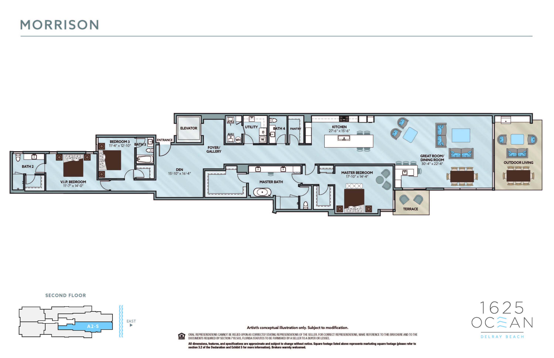 1625 Ocean Boulevard, Delray Beach, Florida 33483, 3 Bedrooms Bedrooms, ,3.1 BathroomsBathrooms,Condo/coop,For Sale,Ocean,RX-10740970