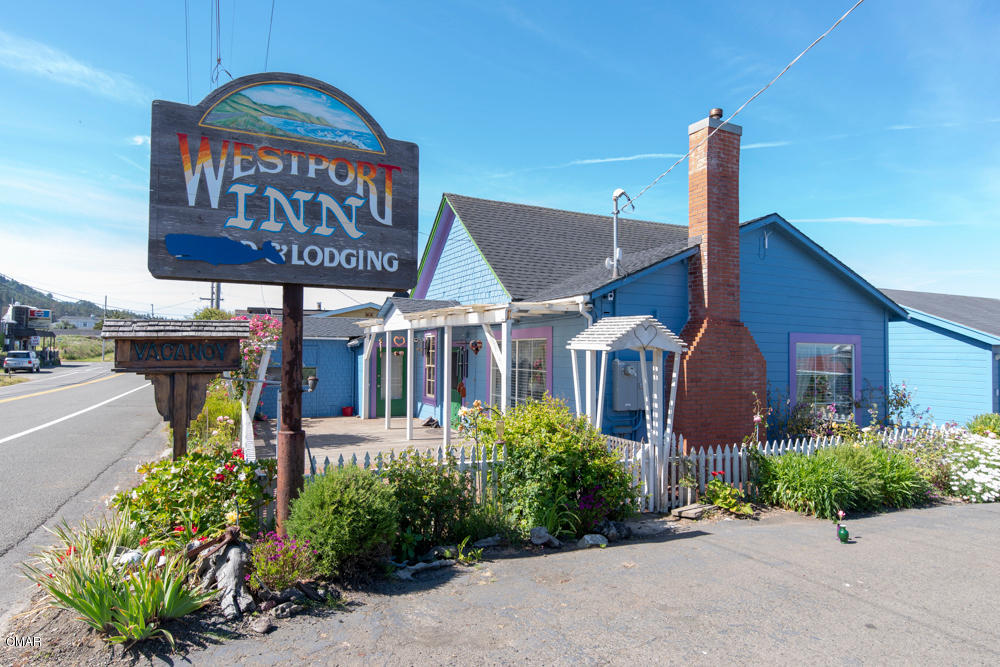 The Westport Inn, now operating as a six unit motel under county license as a Bed and Continental Breakfast. The main structure with owners living quarters , this was also a Deli, and before, a restaurant as well. Deli operation MAY be able to put back online. Great potential there. Much equipment is still in place. Great opportunity to live in this community, and operate as is now configured, or change to suit your lifestyle. Has community water and sewer, ocean views too. Family owned and operated since 1974. Now ready for a new owner to keep this jewel a part of the community. may also be expanded to other uses. The main building could be a very comfortable home, large open living room and other rooms have many possibilities