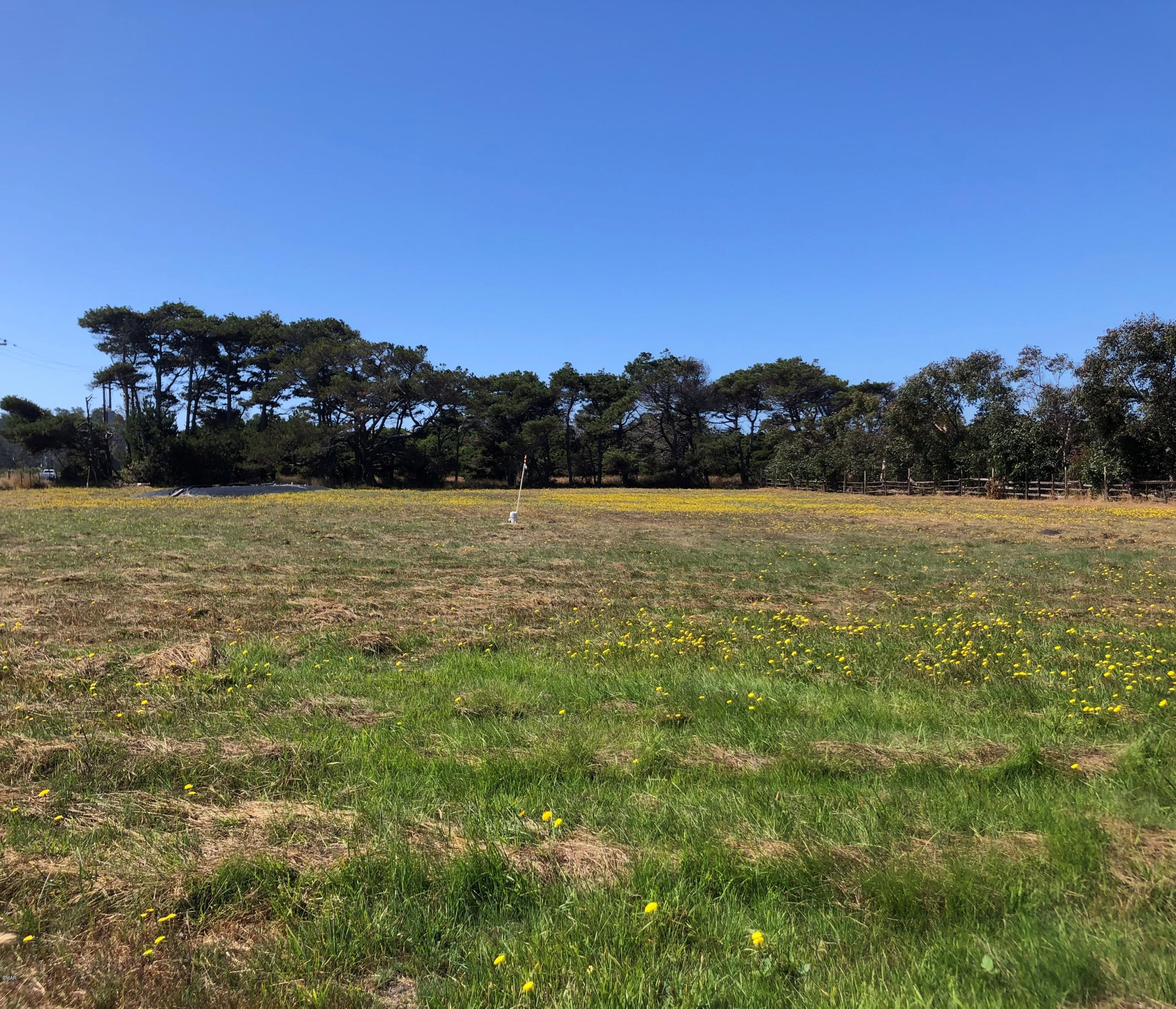 Build your coastal home now. All Coastal Development permits and local plans approved. 1.27 acre vacant lot, bordered on one side by Jug Handle State Natural Reserve, one block from the ocean , via an adjacent county road, in a quiet neighborhood with direct access to State Highway 1. Conveniently located between the town of Fort Bragg with all the amenities and the quaint village of Mendocino with its artist's galleries and fine restaurants. Well kept, flat terrain lot, regularly and professionally mowed and tilled. Easy access from county road. Producing drilled well, documented over 10 years. Leach field installed. PG&E power, telephone and cable at lot corner. All CDP plans completed by local coastal planning professionals.