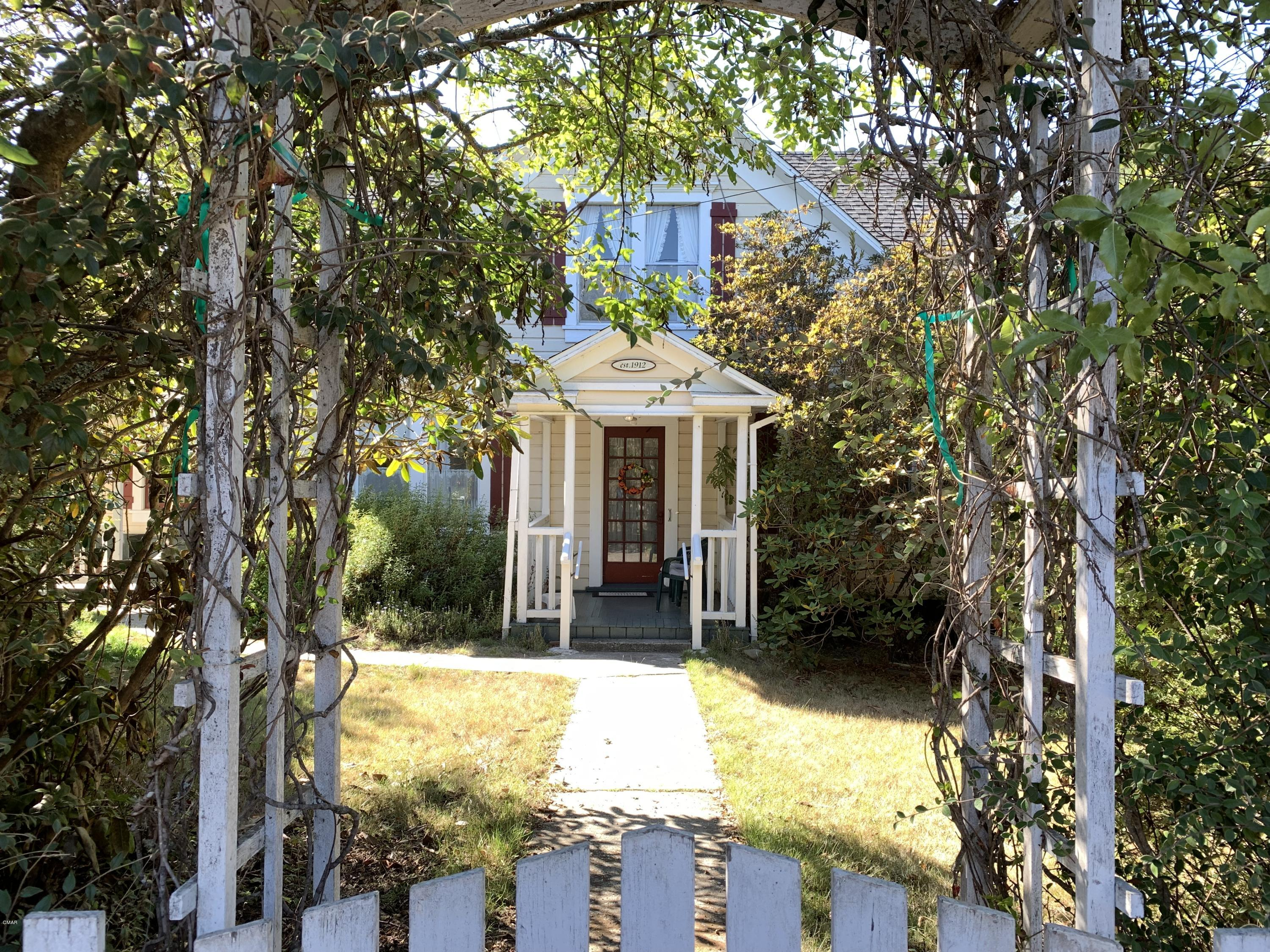 Rare Opportunity to own a charming  country farmhouse on approx. 2.5 acres, about 5 minutes to the lovely coastal town of Fort Bragg.  3 Bedroom, 1 huge bathroom in a beautiful setting. Downstairs bedroom has two closets, upstairs landing has three storage closets! Many outbuildings including a very large barn, detached garage, a shop, a separate art or yoga studio space or detached office or ? This parcel has it all, privacy and room for your all your animals with 2 separate pastures and plenty of room for parking just about anything.  First time on the market in over 50 years, this doesn't come along every day.  Per county records, Original John Hyman Farmhouse.  Start that hobby farm you've been dreaming of, a MUST SEE!