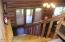 Hancrafted Log Stairway & Railing