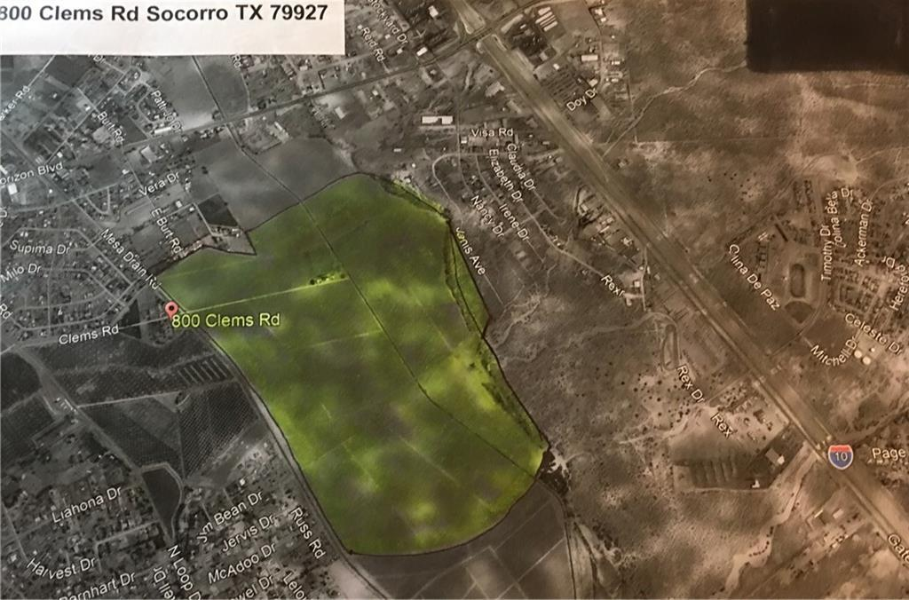 800 Clems Road, Socorro, Texas 79927, ,Land,For sale,Clems,755319