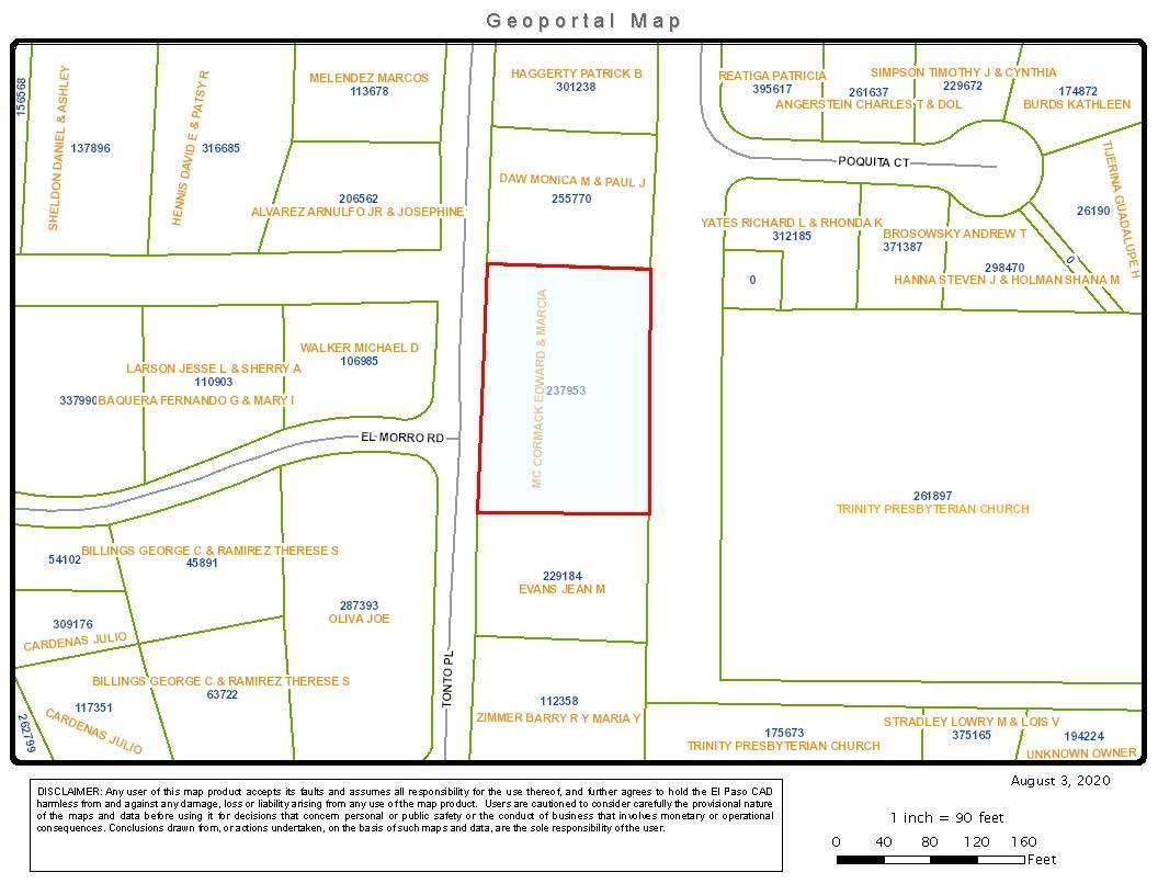 0 TONTO PL Place, El Paso, Texas 79904, ,Land,For sale,TONTO PL,837224