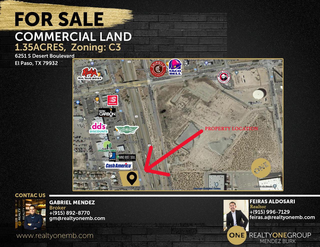 6251 Desert Boulevard, El Paso, Texas 79932, ,Commercial,For sale,Desert,834571