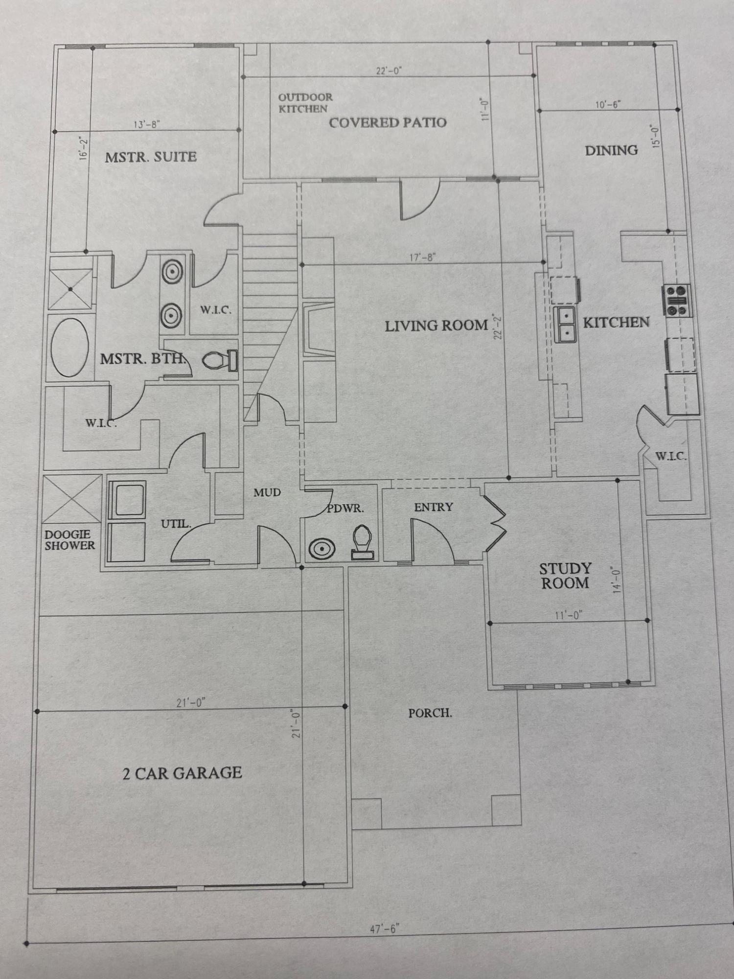 Davalissa - 1st level floor plan