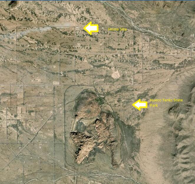 Map 1 Hueco Tanks and Home Site