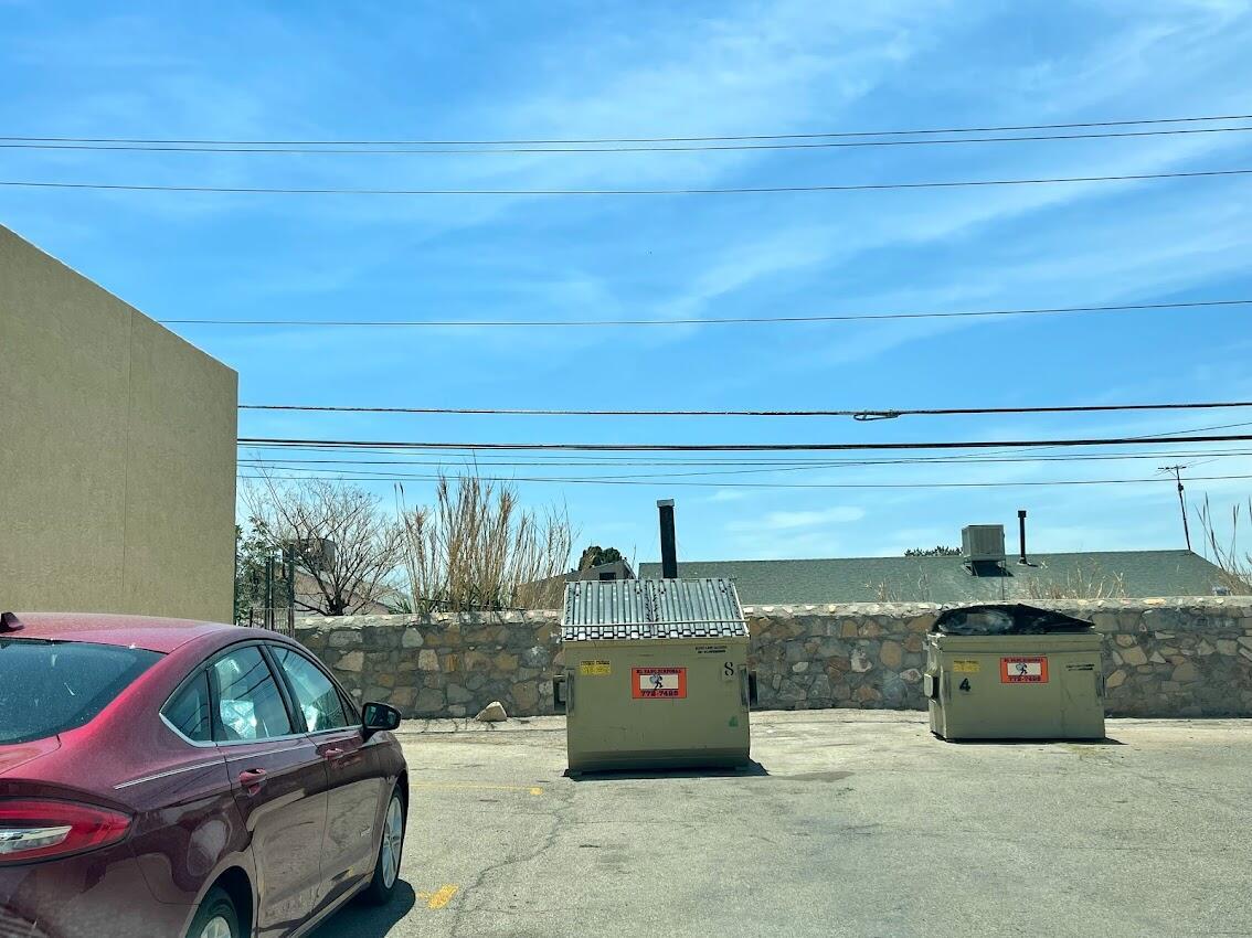 Dumpster provided for tenants