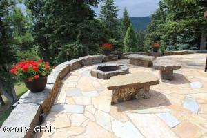 Firepit with Stone Bench seating