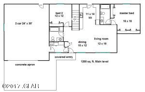 1200 sq.ft. 2 bedroom talbert main  floo