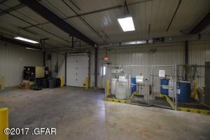 Staging area near loading dock