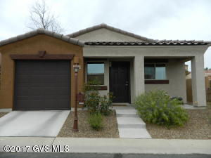 This is a 2 yr. old 1 bedroom, 1 bathroom DR Horton home with great upgrades and warranties. There are stainless steel appliances, granite counter tops and cherry cabinets. There is tile in the foyer, kitchen, dinning area, bathroom and carpet in the living area and the bedroom. There is a 1.5 garage. Rancho Resort is an awesome 55+ community with lots of amenities.