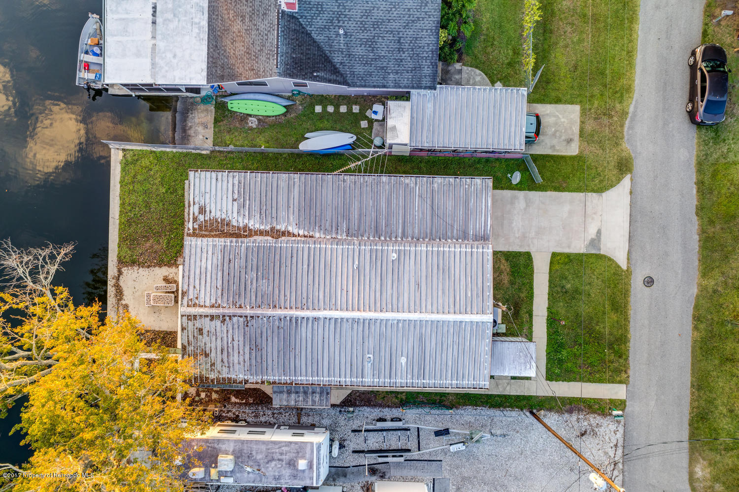 Aerial photo of the home.