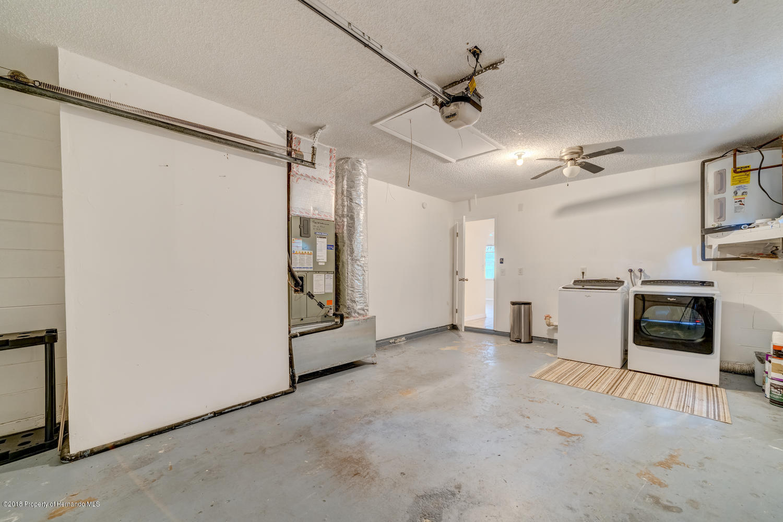 Garage & laundry area