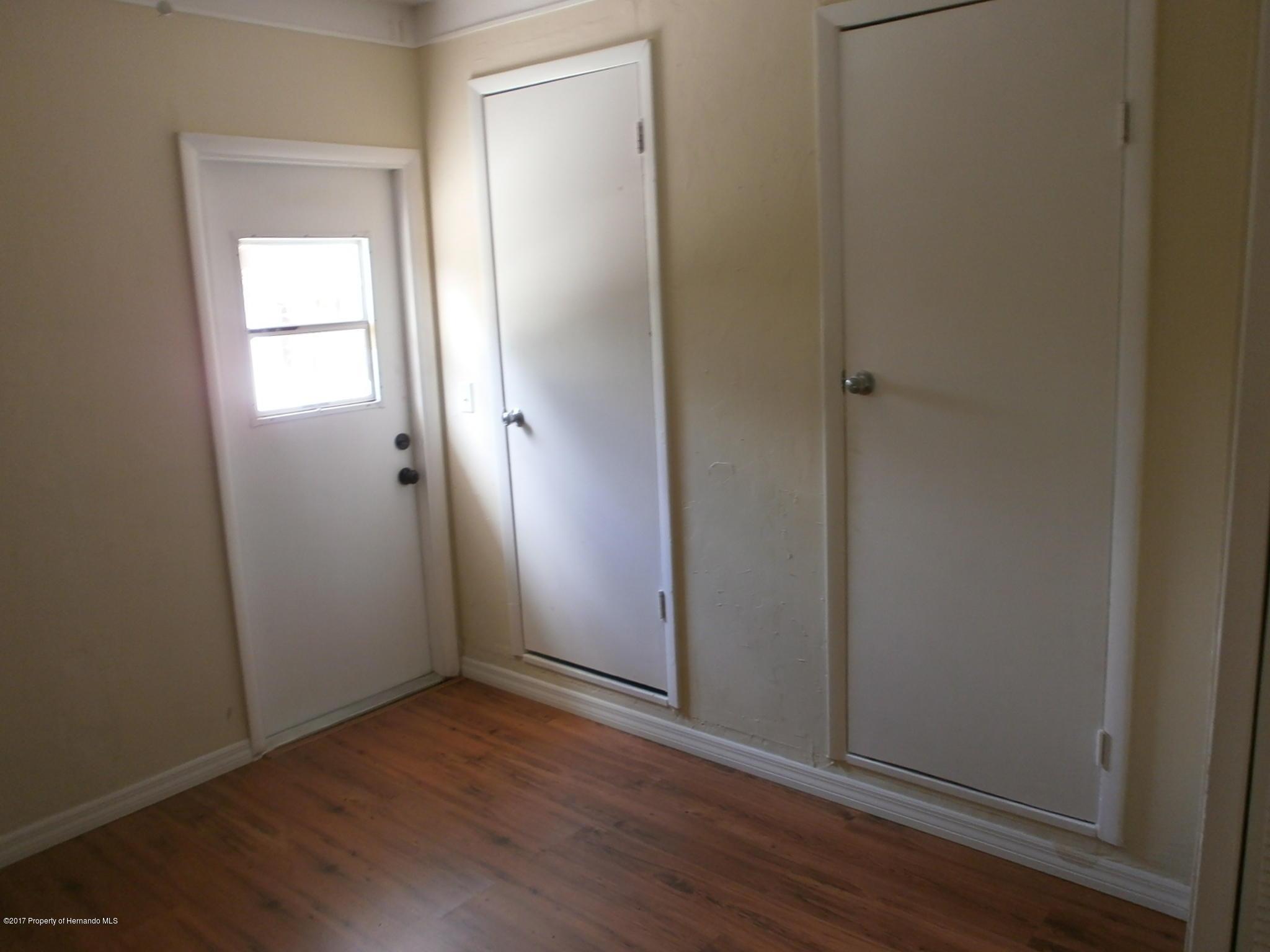 Door to side of house