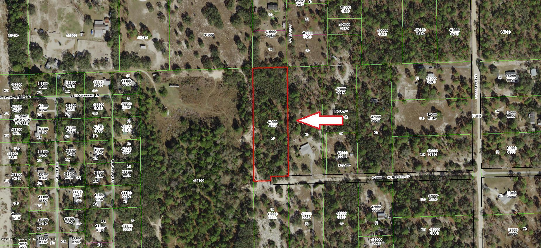 4727 W Justice Court, Homosassa, Florida 34446, ,Vacant land,For Sale,W Justice,2201874