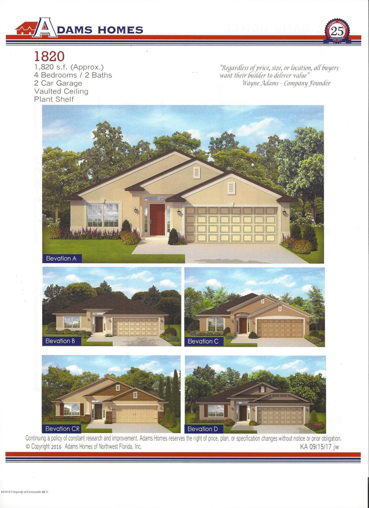 7171 Wirevine Drive, Brooksville, Florida 34602, 4 Bedrooms Bedrooms, ,2 BathroomsBathrooms,Residential,For Sale,Wirevine,2201880