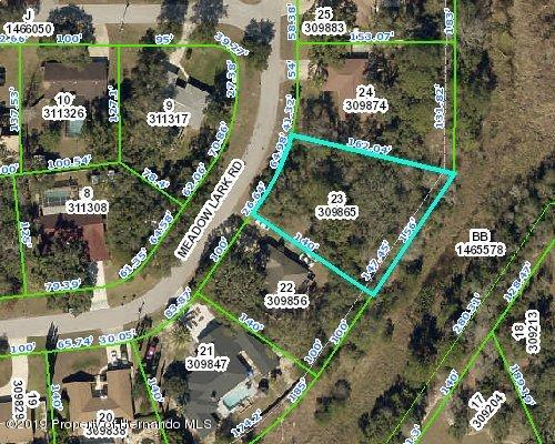 00 Meadow Lark Road, Spring Hill, Florida 34608, ,Vacant land,For Sale,Meadow Lark,2205459