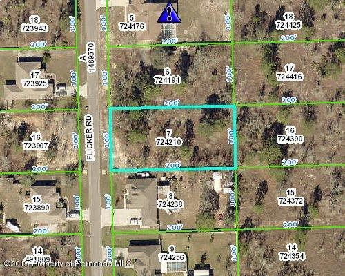 0 Flicker Road, Brooksville, Florida 34613, ,Vacant land,For Sale,Flicker,2206036