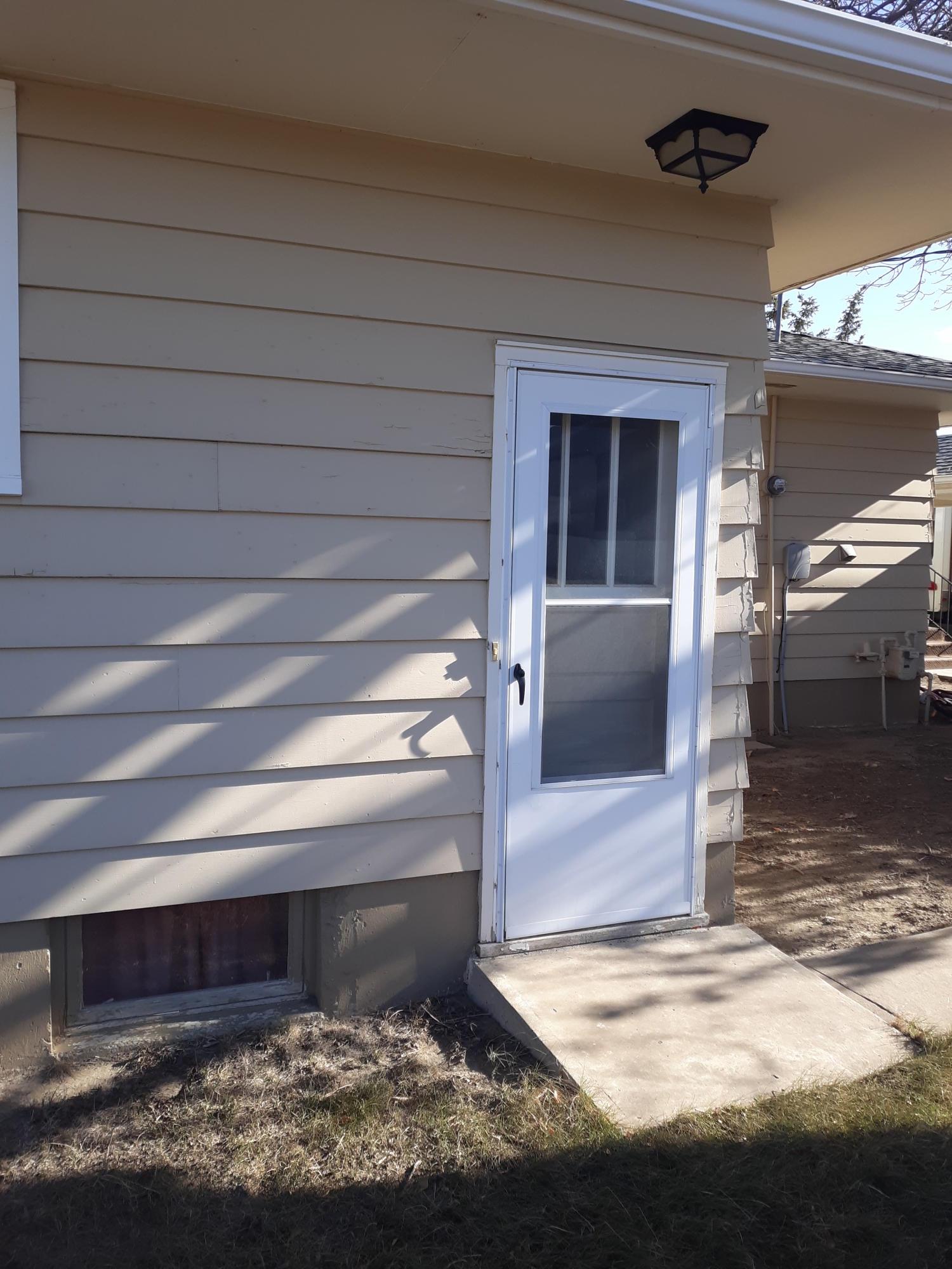 basement exterior door