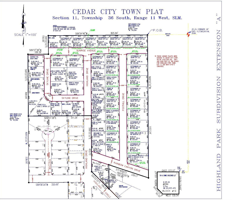 85112 Lot 6 Block 6 Highland Park Sub  Cedar City UT