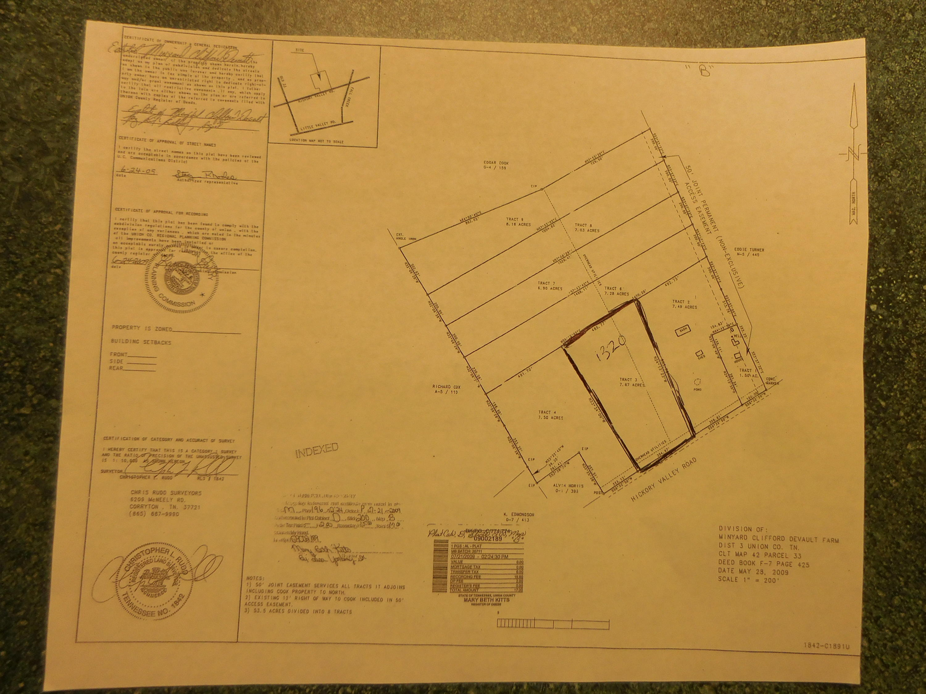 1320 Hickory Valley Rd Off Rd, Maynardville, Tennessee 37807, ,Lots & Acreage,For Sale,Hickory Valley Rd Off,1073106