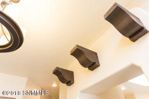 Corbels leading to kitchen