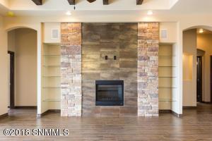 Unique tile fireplace