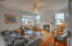 361 Bella Beach Dr, Depoe Bay, OR 97341 - Great room with gas insert fireplace