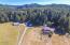 19585 Siletz Hwy, Siletz, OR 97380 - Aerial of house & barns